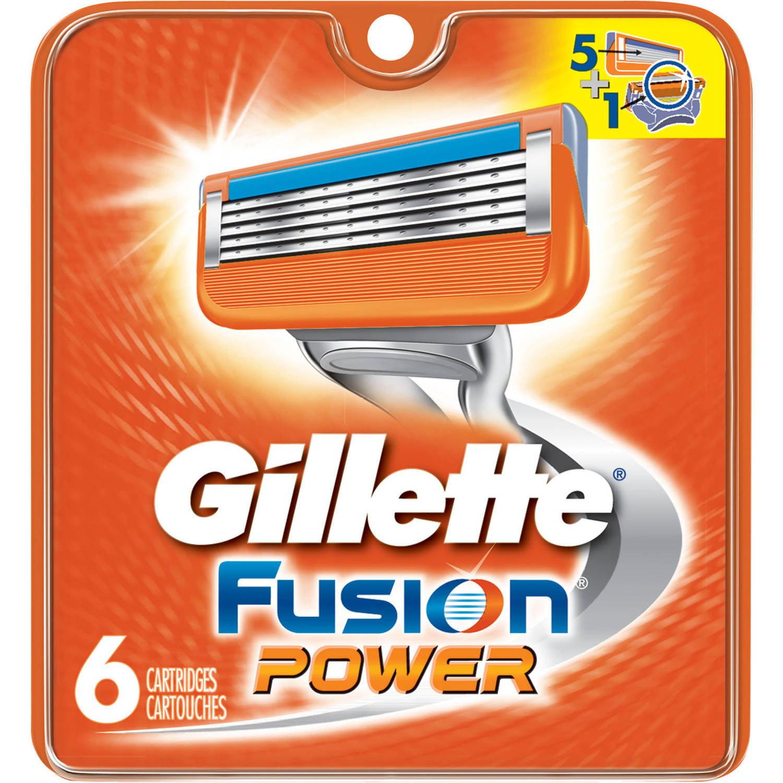 Gillette Fusion Power Razor Cartridge Refills, 6 count