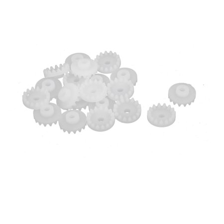 - 20PCS 15 Teeth 2mm Hole Diameter Plastic Gear Wheel for RC Toy Car