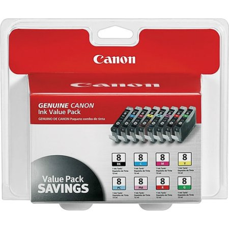 Canon CLI-8 8-Color Multipack Ink Cartridge (Single Pack) CLI-8 8 Color Multipack Ink Cartridge Canon Cli 8 Cartridges