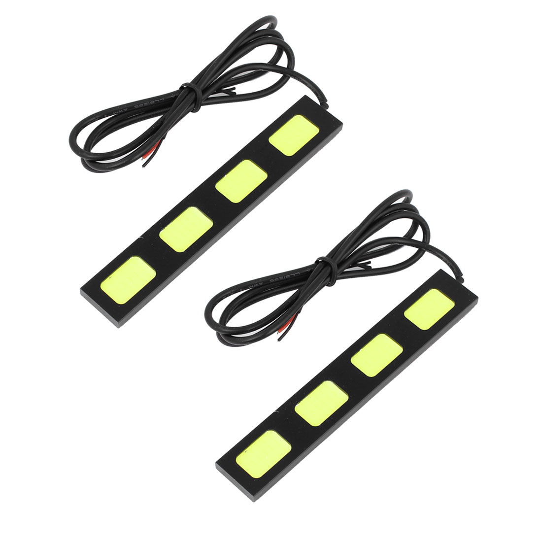 Unique Bargains 2 Pcs 4 COB  White Daytime Running Driving Light Fog Lamp Kit Car Truck 125mm