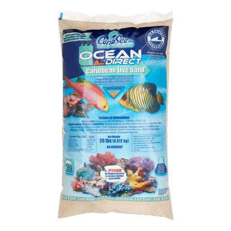 Carib Sea Ocean Direct Natural Carribbean Aquarium Live Sand, 20