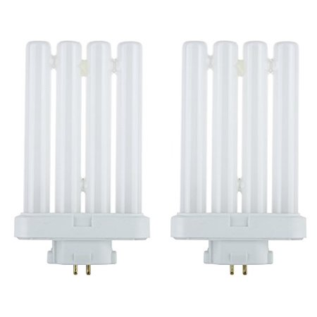 STERL LIGHTING 2 Bulbs FML27/65 FML 27 Watt Quad Tube Compact Fluorescent Light Bulbs, 6500K Color Temperature, 4-pin GX10q-4 Base Base 6500k Daylight Fluorescent Tube