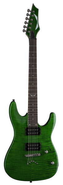 Dean C350 TGR Custom C350 Trans Green Finish Electric Guitar With Grover Tuners by