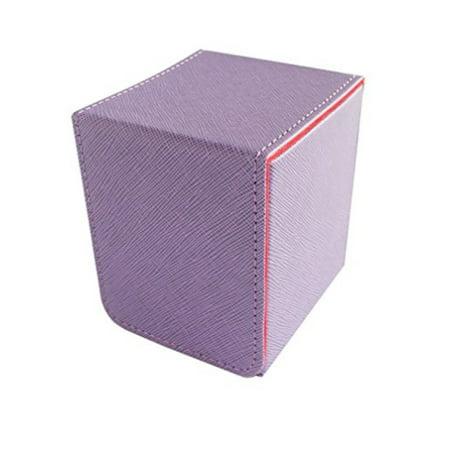 Aurora Deck - Dex Protection - Small Magnetic Flip Deck Box - Creation Aurora Purple