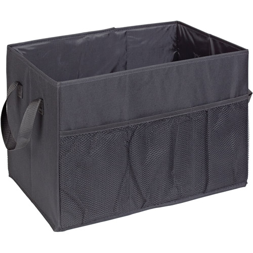 HouseCandie Foldable 1-Compartment Trunk Organizer, Black