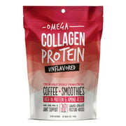 Omega Collagen Protein Powder for Coffee - Unflavored - Great addition to Coffee, Smoothies, or Shakes (12 oz)