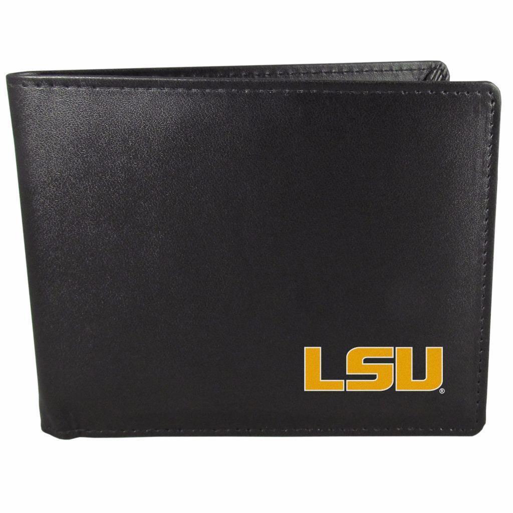LSU Tigers Bifold Wallet Black - ID Window Bifold