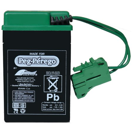Genuine OEM Peg-Perego 6-Volt Battery, IAKB0509 (Feeders Battery 6 Volt Charger)