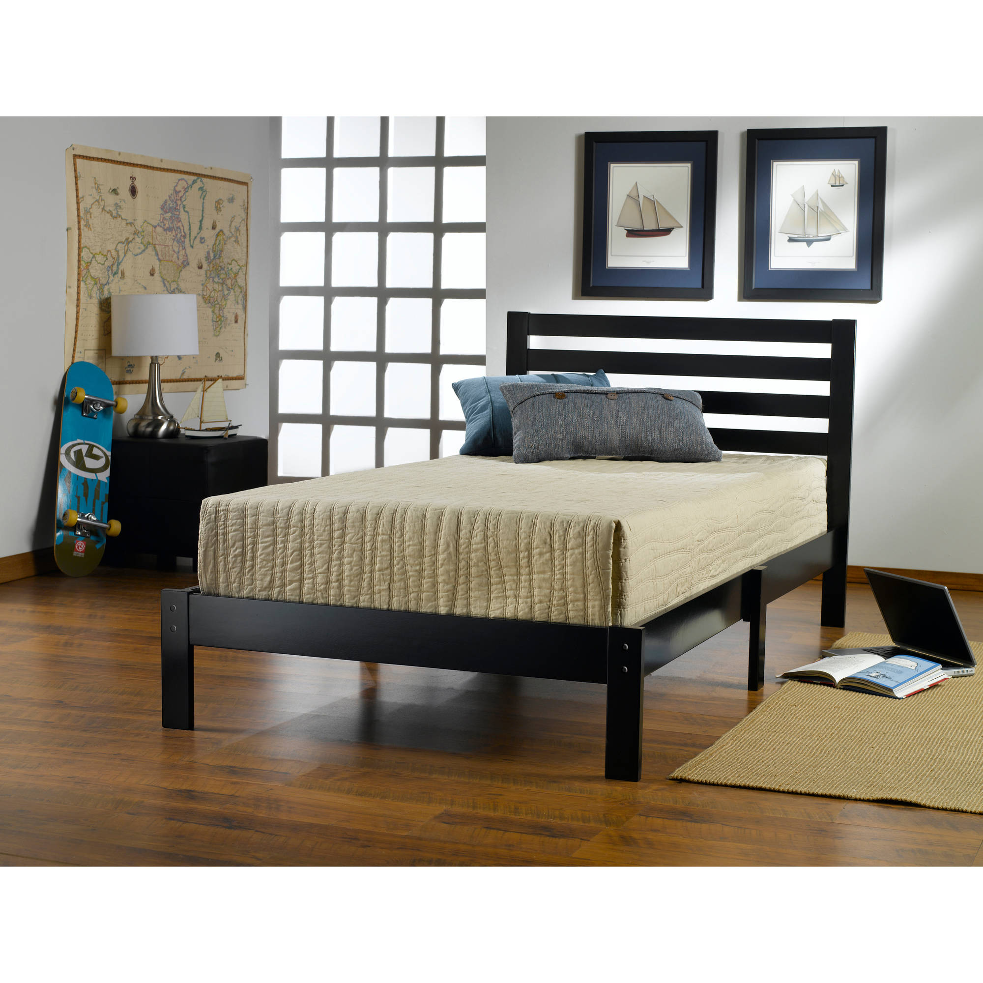 Aiden Twin Bed, Black by Hillsdale Furniture LLC