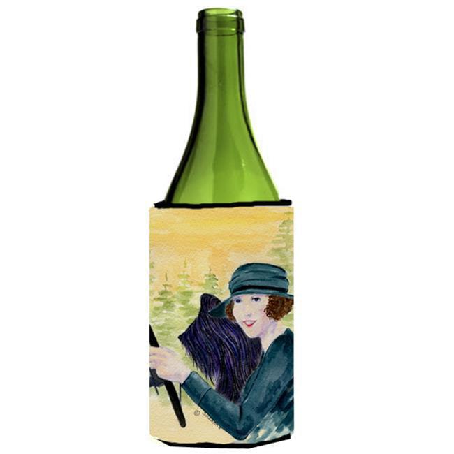 Carolines Treasures SS8549LITERK Lady Driving With Her Briard Wine bottle sleeve Hugger - 24 oz. - image 1 of 1