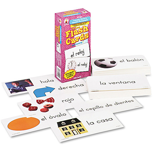 Carson-Dellosa Publishing Flash Cards, Everyday Words in Spanish, 104pk