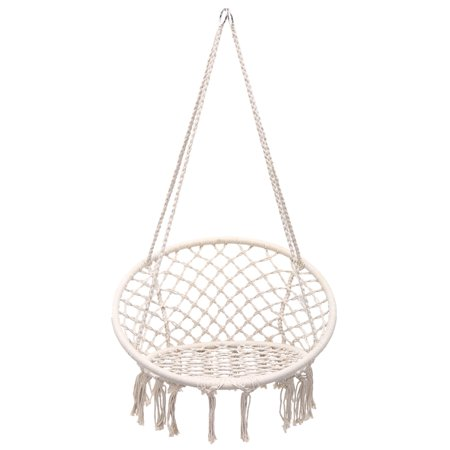 Hammocks Furniture 100% Quality Garden Patio Porch Hanging Cotton Rope Swing Chair Seat Hammock Swinging Wood Outdoor Indoor Swing Seat Chair Strong Packing