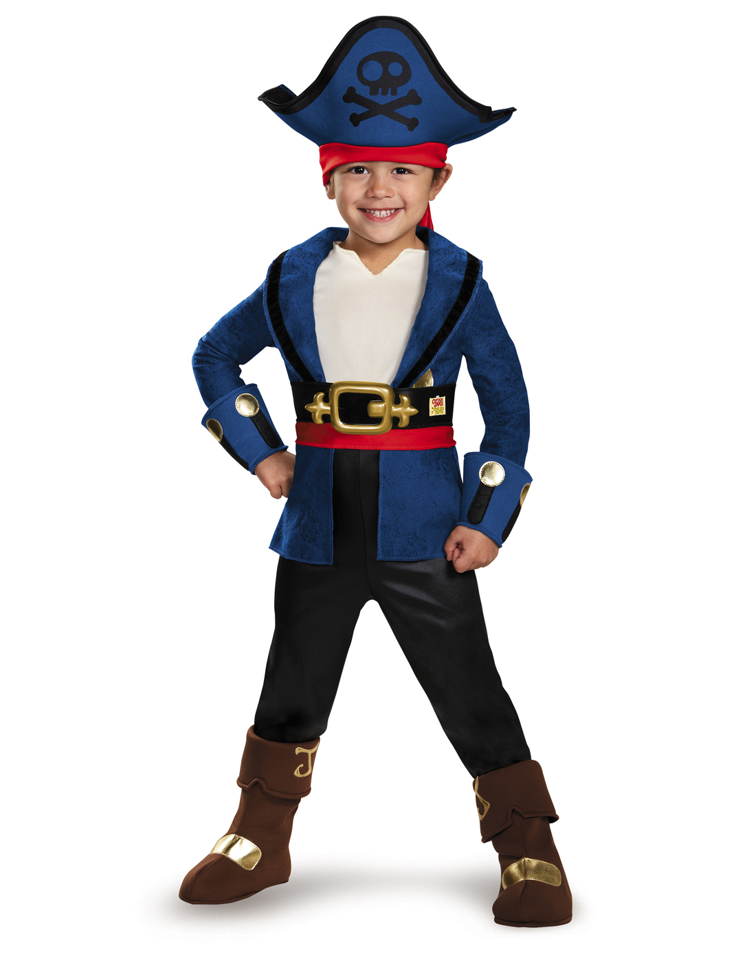 Captain Jake and the Never Land Pirates: Deluxe Captain Jake Child Halloween Costume,... by Generic