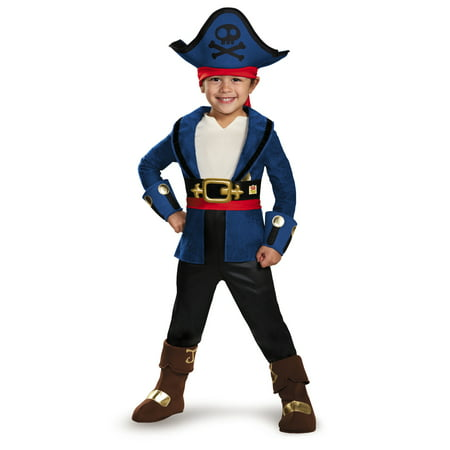 Captain Jake and the Never Land Pirates: Deluxe Captain Jake Child Halloween Costume, Small (4-6) - Jake Neverland Pirates Halloween