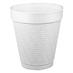 Small Foam Drink Cup, 10 oz, Hot/Cold, White, 25/Bag, 40 Bags/Carton