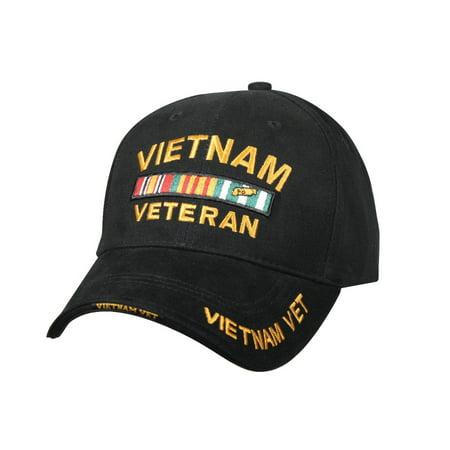 Vietnam Veteran Deluxe Low Profile Baseball Cap, Black