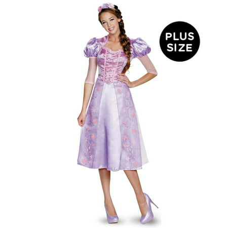 Disney Princess Deluxe Plus Size Rapunzel Costume For Women - XL (18-20) (Deluxe Costumes For Women)