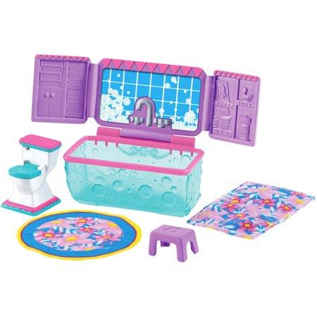 Fisher-Price Dora Window Surprises Dollhouse, Bathroom Furniture