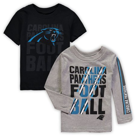 outlet store 08feb 04a5a Carolina Panthers Toddler Two-Pack Playmaker Long Sleeve & Short Sleeve  T-Shirt Combo - Black/Gray