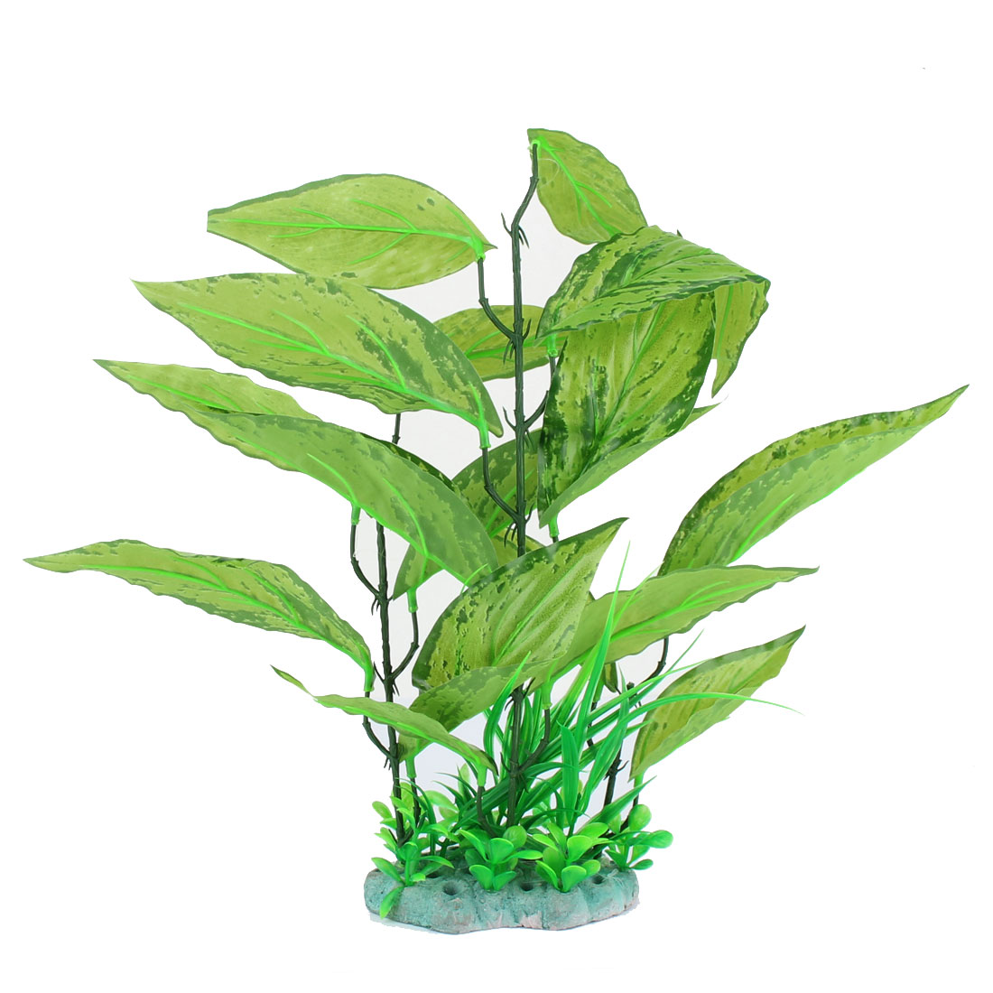 Aquarium Plastic Artificial Fake Water Plant Grass Decor Ornament Light Green