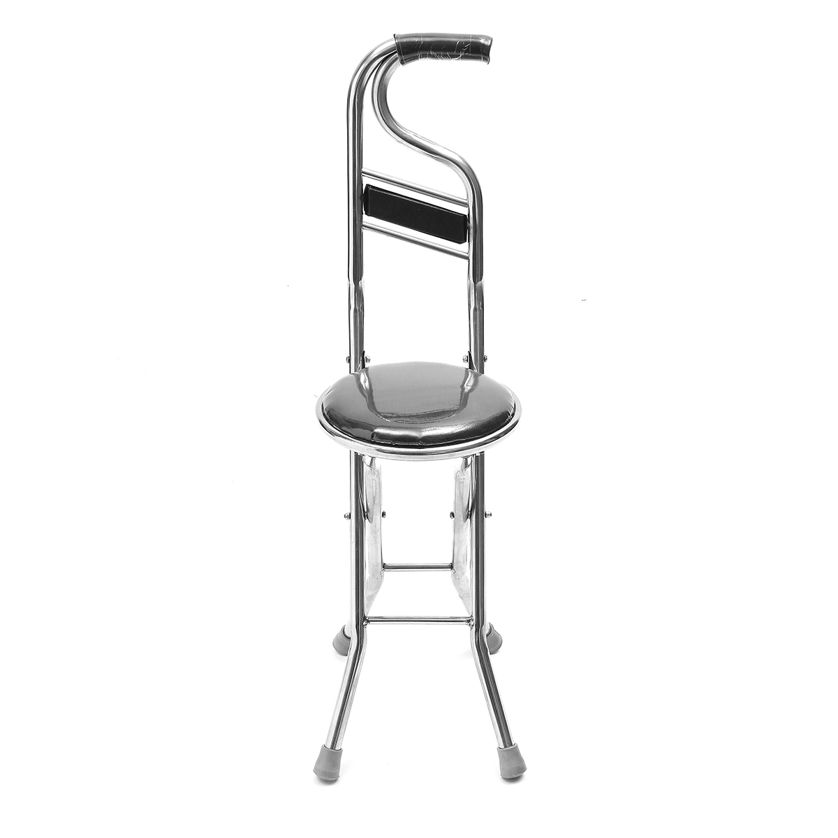 Genial Moaere 2 In 1 Adjustable Stainless Walking Cane Stick Elderly Care Portable  Folding Walking Stick Travel Cane With Chair Seat Stool