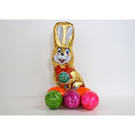 Canvas Print Cute Easter Happy Easter Holiday Easter Bunny Stretched Canvas 32 x 24 - Happy Easter Bunny