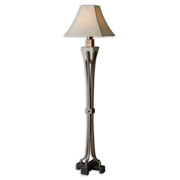 Floor Lamps 1 Light With Hand Cared Slate Finish Resin Metal Slate Glass Material 66 inch 100 Watts
