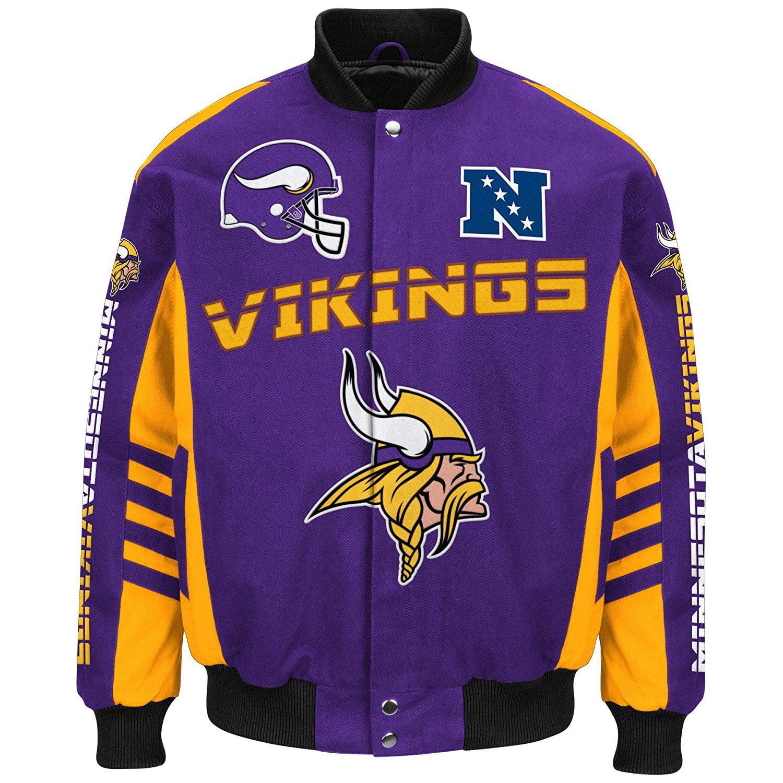 Minnesota Vikings Button Up Blitz Twill Jacket by G-III Sports