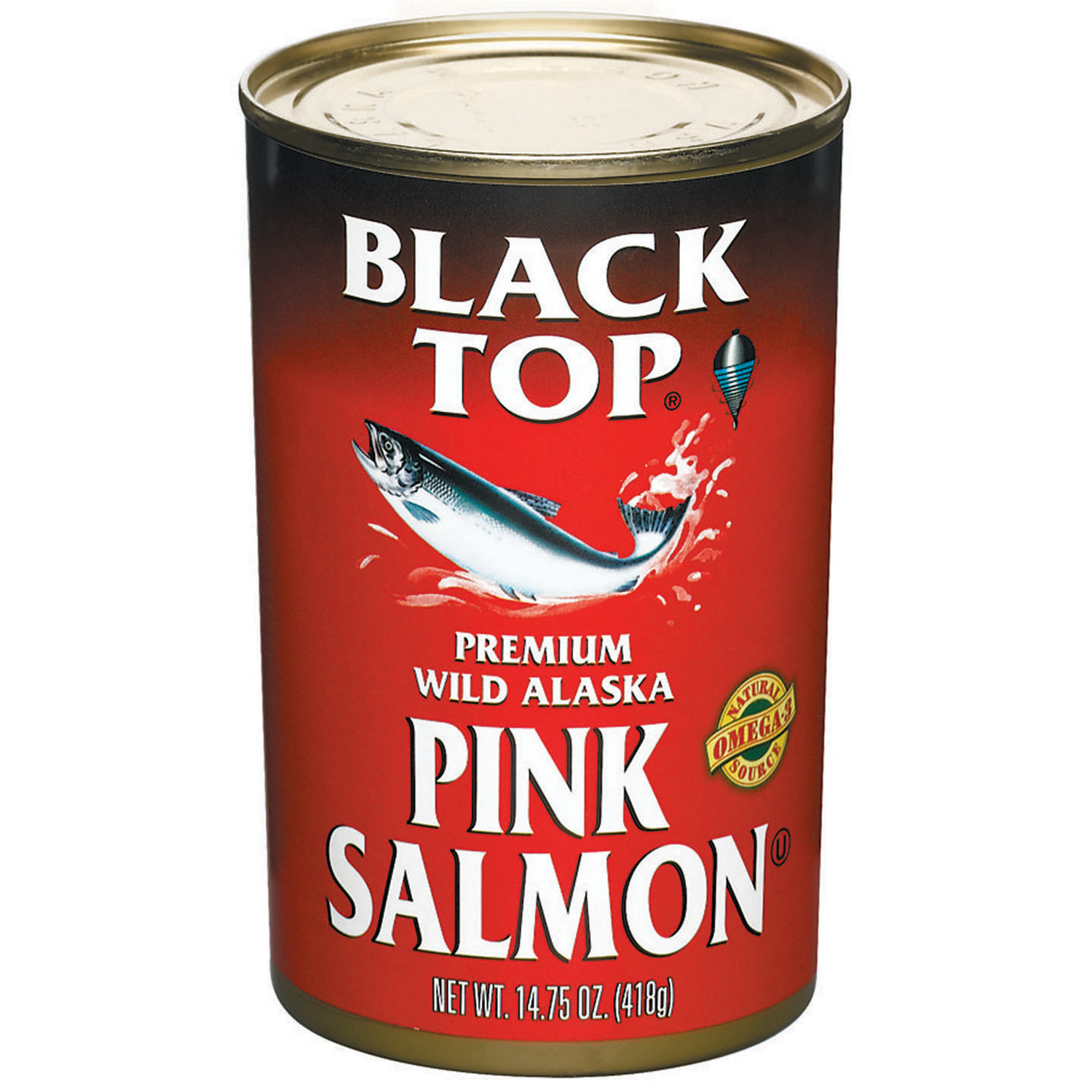 Black Top Premium Wild Alaska Pink Salmon 14.75 Oz Can by Icicle Seafoods