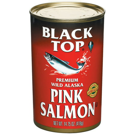 (2 Pack) Black Top Premium Wild Alaska Pink Salmon, 14.75 (Taste Of The Wild Pacific Stream Salmon)