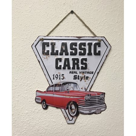 Creative Metal (Creative Motion Metal Sign with Classic Cars Real Vintage Style; Product Size:10.5 x 11.4 x 0.1 ; MetalWall Art for shop, room,kitchen, décor )