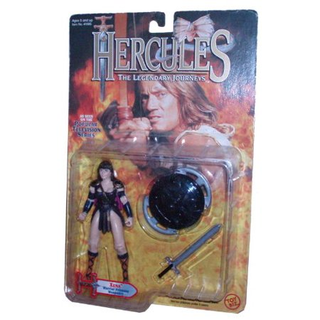 The Legendary Journeys 1995 Popular TV Series 5 Inch Tall Action Figure - XENA Warrior Princess Weaponry with Sword and Shield, 1995 - Toy Biz / MCA-TV - #41005 By Hercules From USA](Toy Sword And Shield)