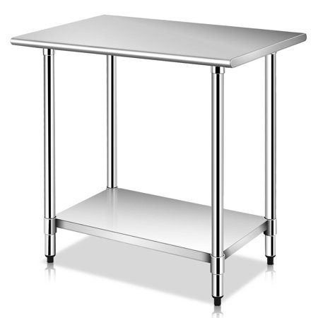 - Costway 24'' x 36'' Stainless Steel Work Prep Table Commercial Kitchen Restaurant