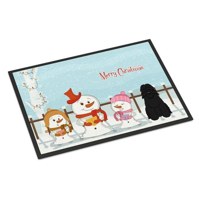 Carolines Treasures BB2405JMAT Merry Christmas Carolers Bouvier Des Flandres Indoor or Outdoor Mat, 24 x 0.25 x 36 in. - image 1 de 1