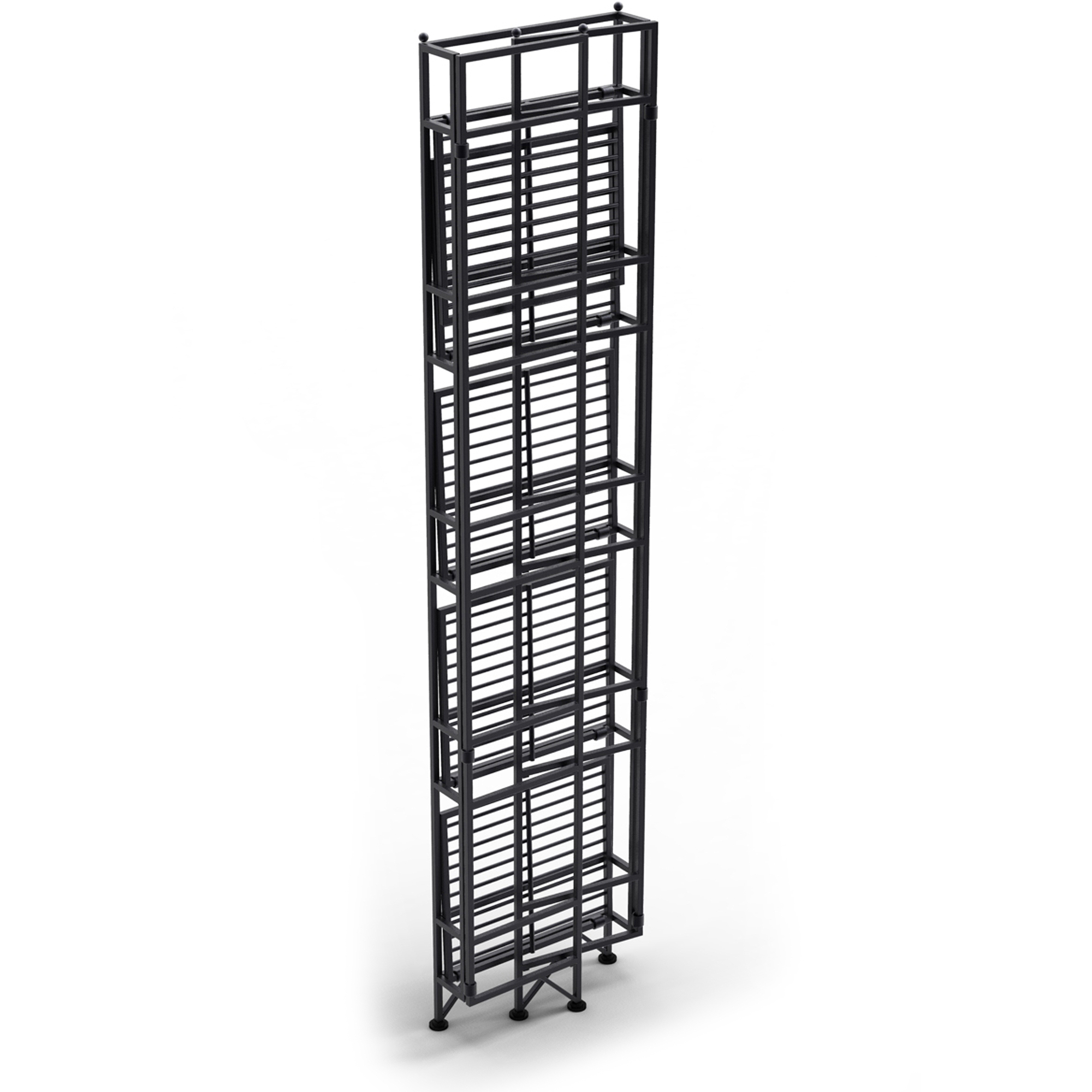 Convenience Concepts Designs2go Metal Folding 5 Shelf Bookcase Multiple Finishes