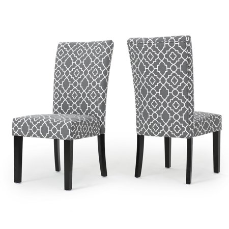 Jericho Fabric Dining Chair, Set of 2, Grey ()