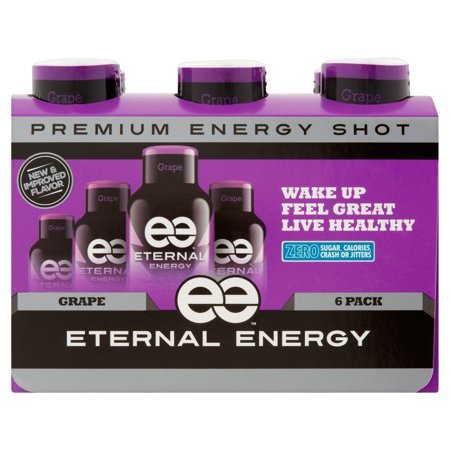 Xs Energy Drink Halloween ((12 Bottles)Eternal Energy Energy Shot, Grape, 1.93 Fl)