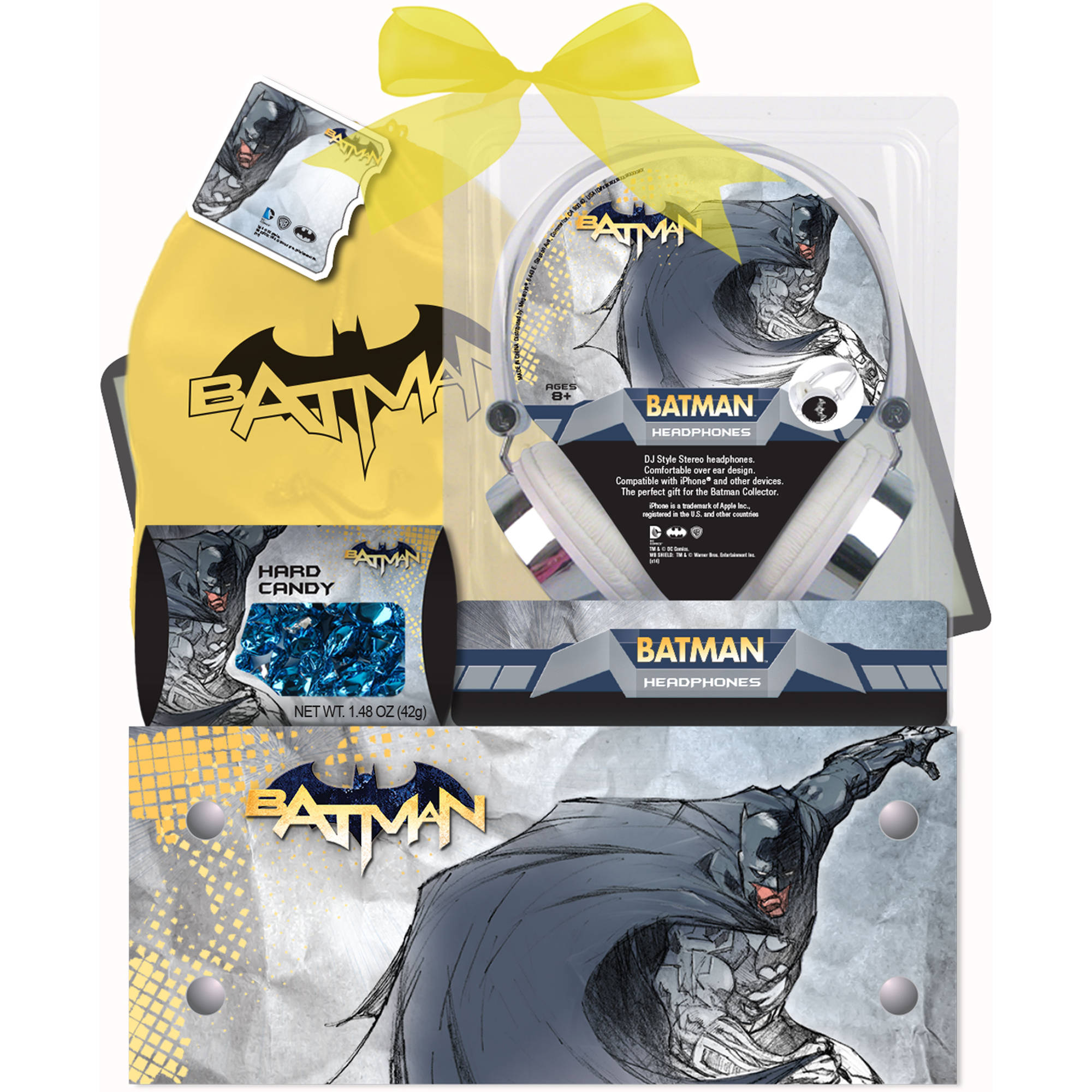 Batman Headphones Easter Gift Set