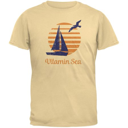 Summer Sun Vitamin Sea Sailboat Mens Organic T (Old Man And The Sea Boat Name)