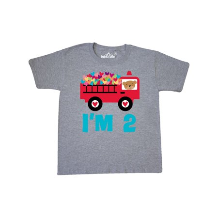 Fire Truck 2nd Birthday Youth T Shirt