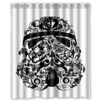 DEYOU Floral Star War Stormtrooper Shower Curtain Polyester Fabric Bathroom Size 60x72 Inches