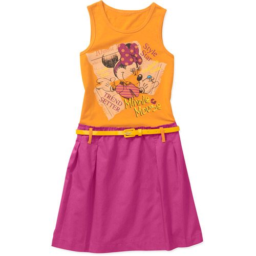 Disney Minnie Mouse Girls' Dress with Belt