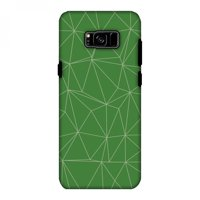 Samsung Galaxy S8 Plus Case - Carbon Fibre Redux Pear Green 14, Hard Plastic Back Cover, Slim Profile Cute Printed Designer Snap on Case with Screen Cleaning Kit