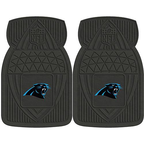 NFL 2-Piece Heavy-Duty Vinyl Car Mat Set, Carolina Panthers