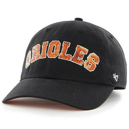 61c1a1560e5 Baltimore Orioles  47 Women s Natalie Sparkle Cleanup Adjustable Hat -  Black - OSFA - Walmart.com