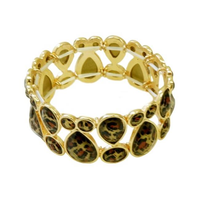Eshopo 0800000084822 Cheetah Leopard Animal Print Stretch Bracelet