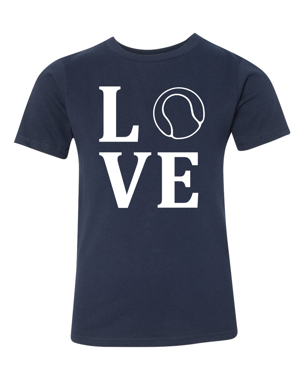 Love Tennis Sports Jersey Youth Short Sleeve T-Shirt