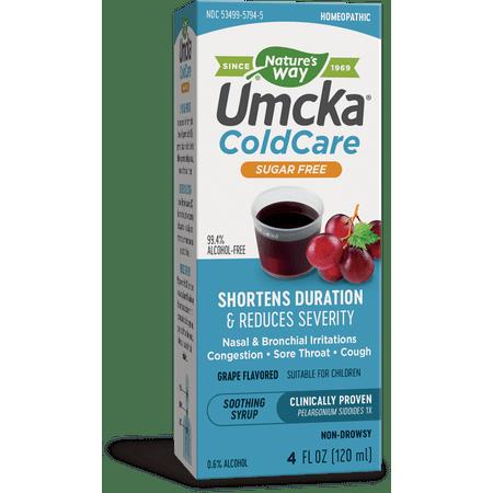 Grape Syrup - Natures Way Umcka ColdCare Sugar-Free Grape Syrup 4 Oz