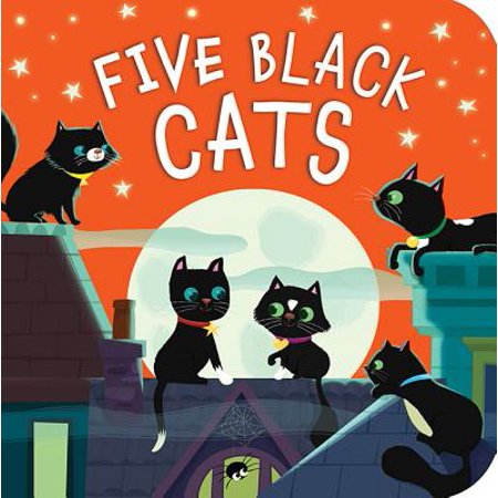 Five Black Cats (Board Book) - Halloween Cat Nails Tutorial