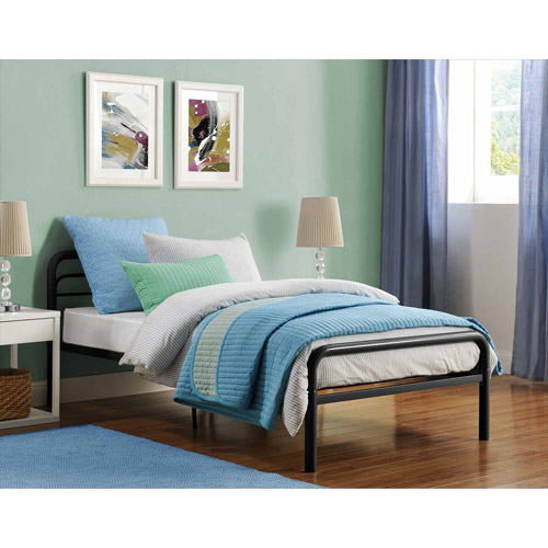 Metal Twin Bed, Multiple Colors